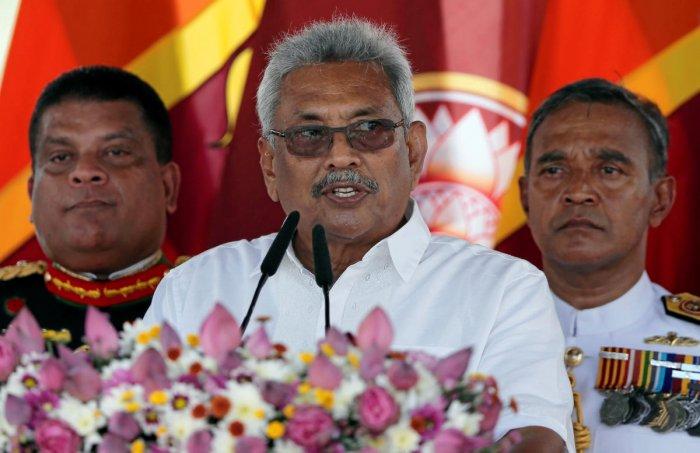Sri Lanka's PresidenT Gotabaya Rajapaksa. Photo by REUTERS.