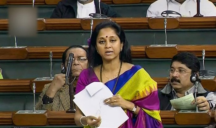 NCP MP Supriya Sule speaks in the Lok Sabha during the Winter Session of Parliament, in New Delhi. PTI photo