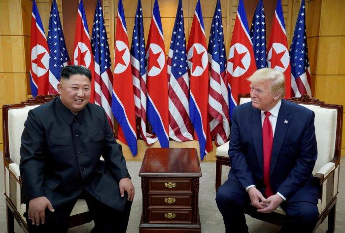 Kim Jong Un and Donald Trump (Reuters photo)