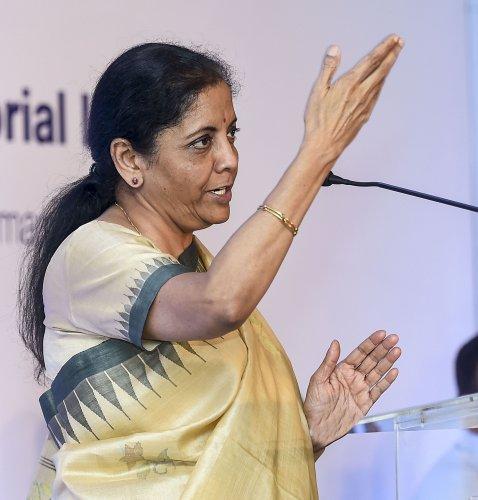 Finance Minister Nirmala Sitharaman. (PTI Photo)