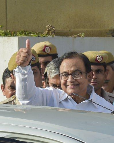 Senior Congress leader and former Union minister P Chidambaram. (PTI Photo)