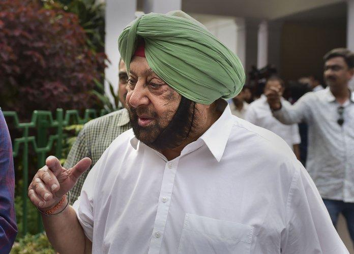 Punjab Chief Minister Amarinder Singh. (PTI Photo)