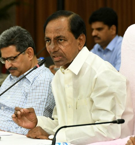 hief Minister K Chandrasekhar Rao had on Sunday announced setting up of a fast track court for expeditious trial of the case. (DH Photo)