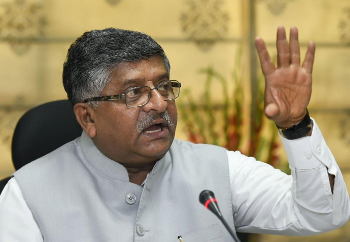 Union Communications and Law Minister Ravi Shankar Prasad(Photo by PTI)
