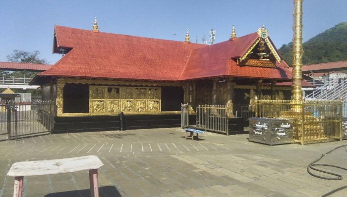 A view of the Lord Ayyappa Temple, in Sabarimala, Kerala. Photo/PTI