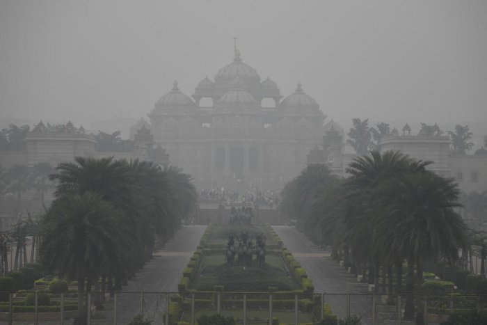 """""""Pollution levels may increase due to light and calm winds, low temperatures and high humidity. Light rains are possible around December 12. Delhi may get some relief then,"""" Mahesh Palawat of Skymet Weather,"""" a private forecastersaid. (Photo by AFP)"""