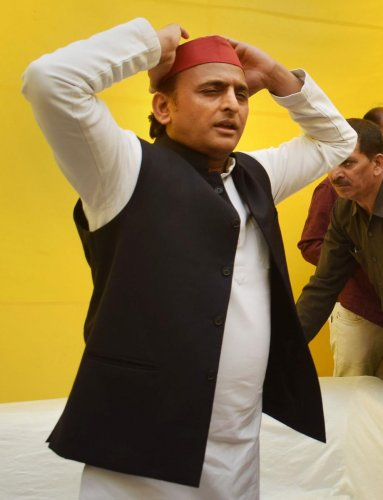 Yadav's allegations were rejected by Shalabh Mani Tripathi, who is adviser to Chief Minister Yogi Adityanath. (Photo by PTI)
