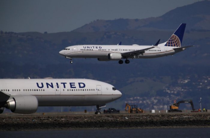 United Airlines. Photo by AFP.