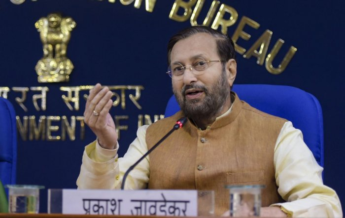 """""""The Cabinet has approved the Central Sanskrit Universities Bill for converting three Sanskrit deemed-to-be-universities into central universities,"""" Information and Broadcasting (I&B) minister Prakash Javadekar told reporters after the meeting. Photo/PTI"""