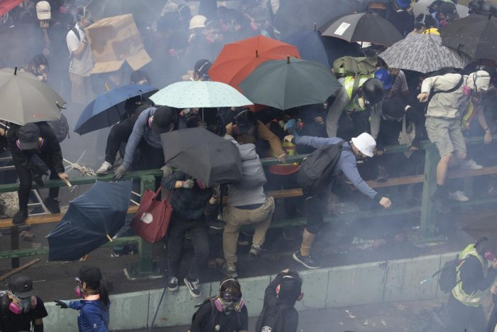 AP/PTI file photo of the Hong Kong protest