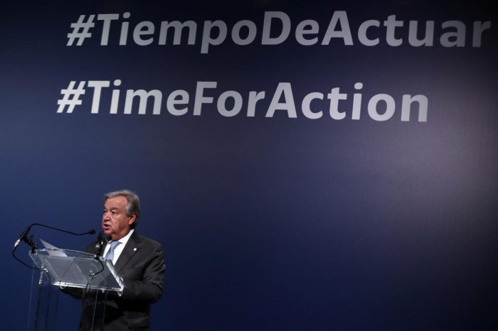 United Nations Secretary-General Antonio Guterres speaks during the U.N. Climate Change Conference (COP25) in Madrid. Reuters