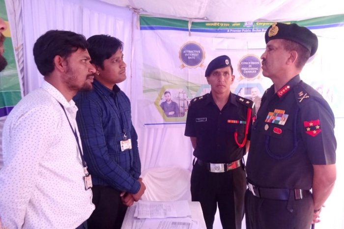 General Officer Commanding-in-Chief of the Southern Command Lt Gen S K Saini takes part in an ex-servicemen convention organised at Maitri Bhavan in Madikeri.