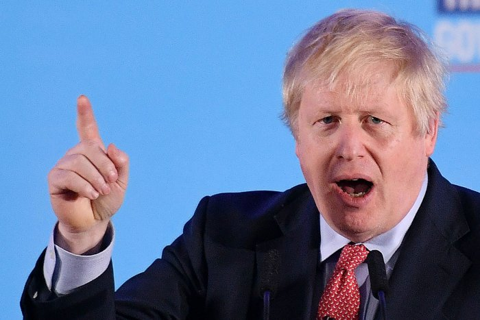 Britain's Prime Minister and leader of the Conservative Party, Boris Johnson. (AFP Photo)
