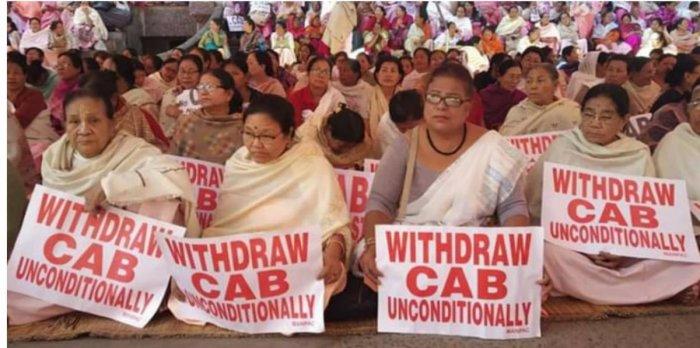 Protest in Arunachal Pradesh. (DH Photo)