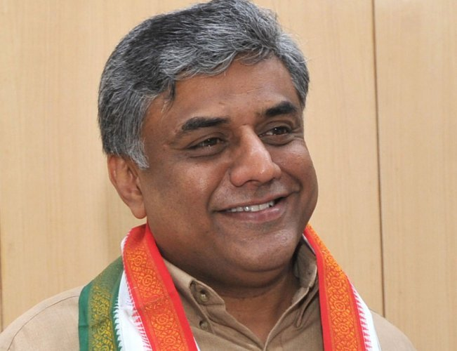 Congress MP M V Rajeev Gowda. (DH File photo)