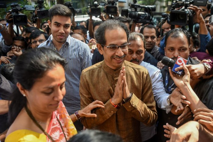 Thackeray's Shiv Sena has gotten the important Home ministry. AFP file photo