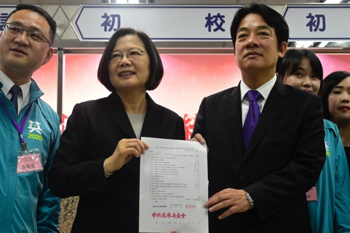 Taiwan's President Tsai Ing-wen. Photo by AFP.