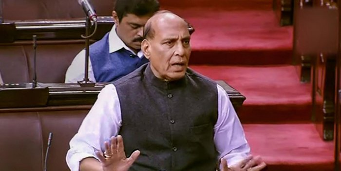 Defence Minister Rajnath Singh(Photo by PTI)
