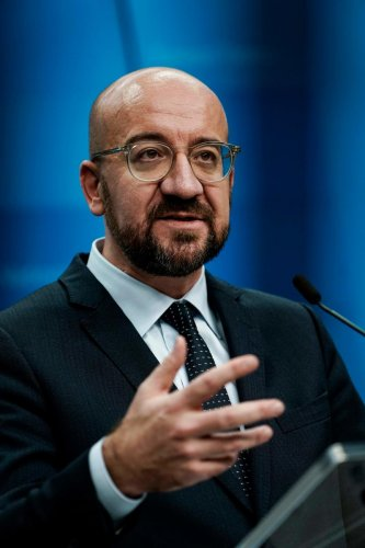 President of the European Council Charles Michel. Photo by AFP.