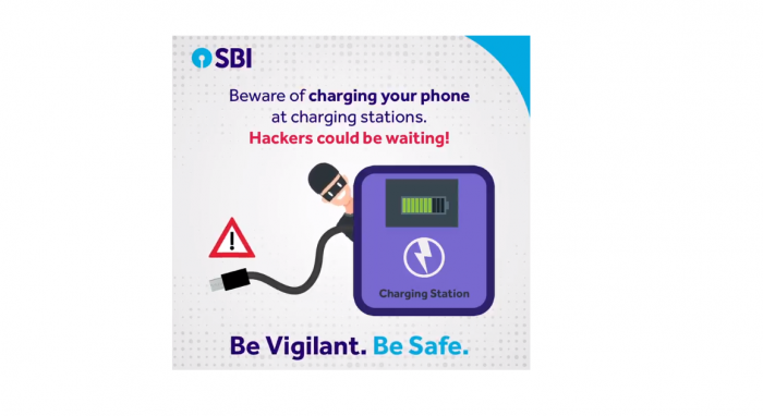 State Bank of India (SBI) warns of Juice Jacking (Picture Credit: SBI/Twitter)
