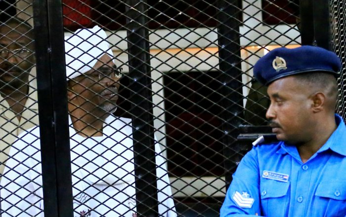 Bashir, 75, will serve his sentence after the verdict has been reached in another case in which he is accused of ordering the killing of demonstrators during the protests that led to his ouster, the judge said. Photo/Reuters