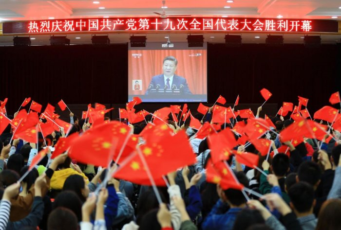 Chinese leaders are trying to support growth to limit job losses that could affect social stability, but are facing pressure to tackle debt risks caused by pump-priming policies. Photo/AFP