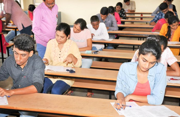Every year, around 2.1 lakh students register for CET. A majority of them are from rural areas. dh file photo