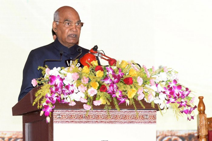 As our economy grows, we need to acquire the scale and efficiency that is greater and better than the best in the world,President Kovind added. Photo/Twitter (@rashtrapatibhvn)