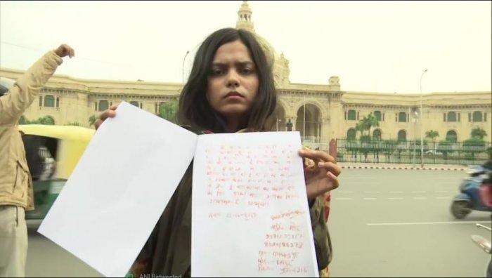 International shooter Vartika Singh. (ANI Photo)