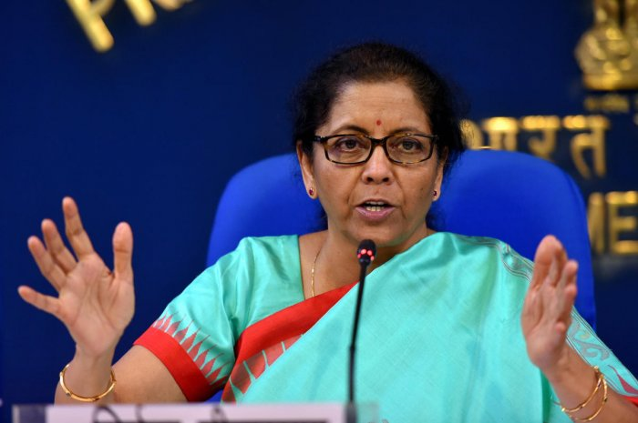 Sitharaman is likely to present her second Budget for the Modi 2.0 government in Parliament on February 1. Photo/PTI