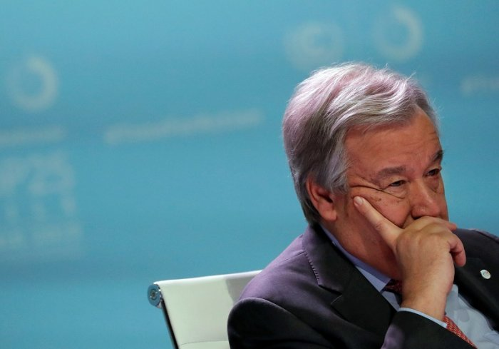 United Nations Secretary-General Antonio Guterres attends the High-Level event on Global Climate Action during the U.N. Climate Change Conference (COP25) in Madrid. (Reuters Photo)