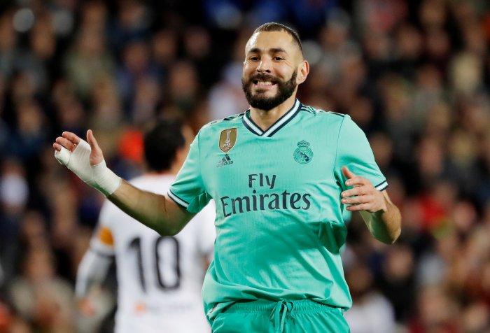 Real Madrid's Karim Benzema. (Reuters Photo)