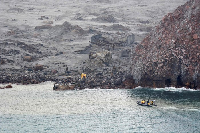 New Zealand Defence Force shows elite soldiers taking part in a mission to retrieve bodies from White Island after the December 9 volcanic eruption, off the coast from Whakatane on the North Island. (AFP Photo)