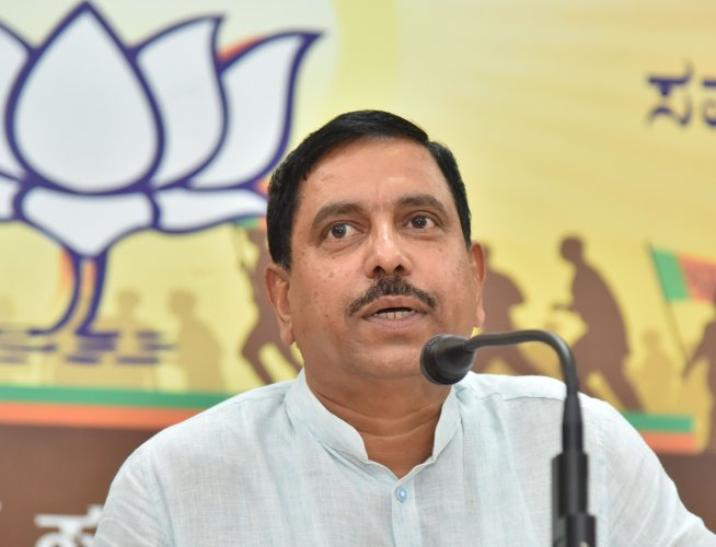 Union Minister of Parliamentary Affairs, Coal and Mines Pralhad Joshi. (DH Photo)