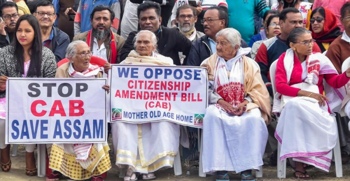 Protestors take part in a hunger strike organised by All Assam Students Union (AASU) in protest against the passing of Citizenship Amendment Bill, in Guwhati. PTI file photo
