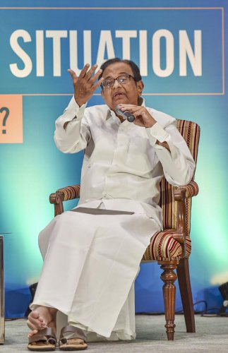 """""""The bill is clearly suspected because it picks three countries and six religions but excludes Sri Lankan Hindus and Bhutanese Christians,"""" said former finance minister P Chidambaram. (PTI Photo)"""