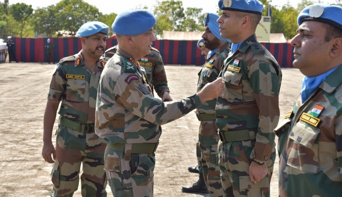 India is among the largest troop-contributing countries to UN peacekeeping operations. Currently, 2,342 Indian troops and 25 police personnel are deployed with the UN Mission in South Sudan (UNMISS). Photo/unmissions.org