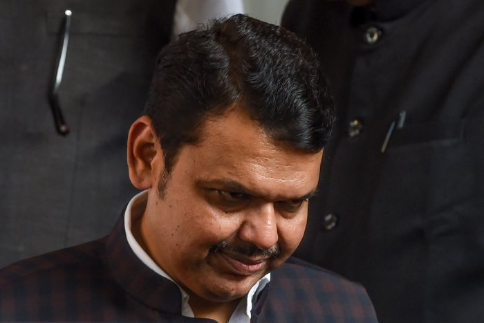 Bharatiya Janata Party (BJP) leader and former Chief Minister of the western Indian state of Maharashtra Devendra Fadnavis. (AFP Photo)