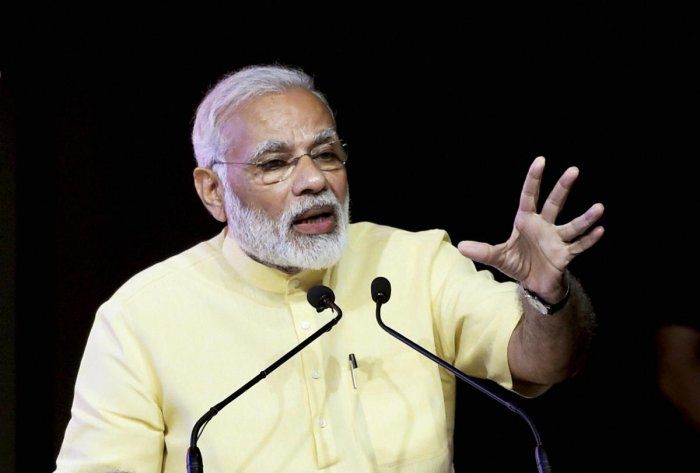 """""""Through the years, he enthralled audiences with outstanding performances. His work will be remembered for years to come. Anguished by his demise,"""" Modi wrote on Twitter. Photo/PTI"""