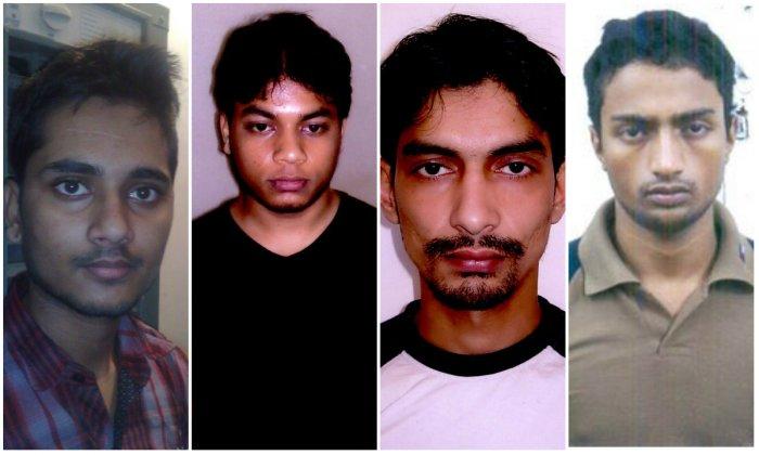 The 4 convicts (Left to Right) - Salman, Saif-ur-Rahman, Sarvar Azami and Mohammed Saif.