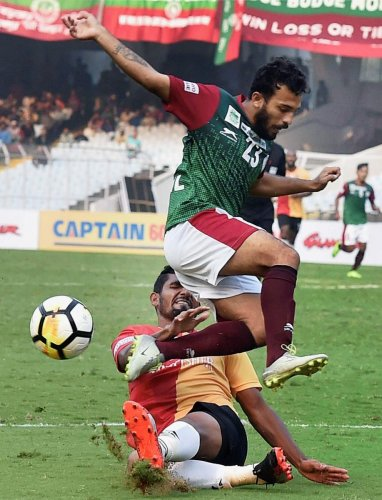 File PTI photo of a Derby match