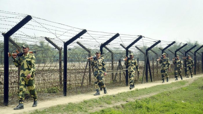 The man was nabbed on Tuesday when he was found moving suspiciously near the border. Photo/PTI