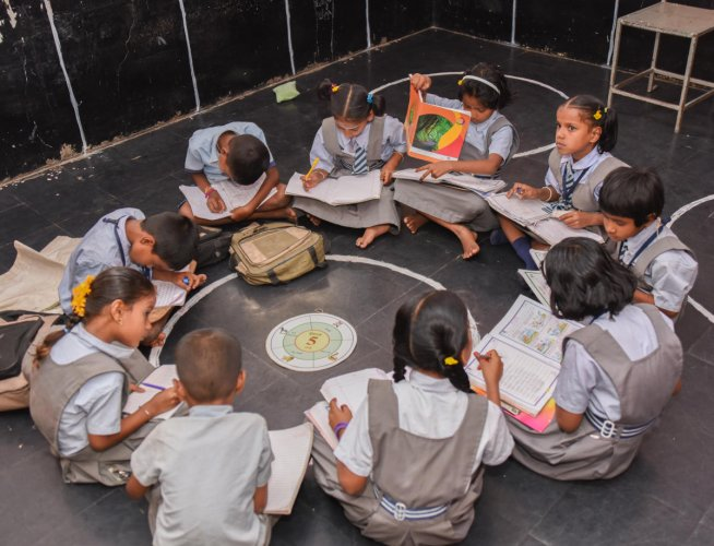 An internal survey conducted by the Education department has revealed that 40% of the children who joined pre-primary classes were from the upper middle-class background. DH File Photo