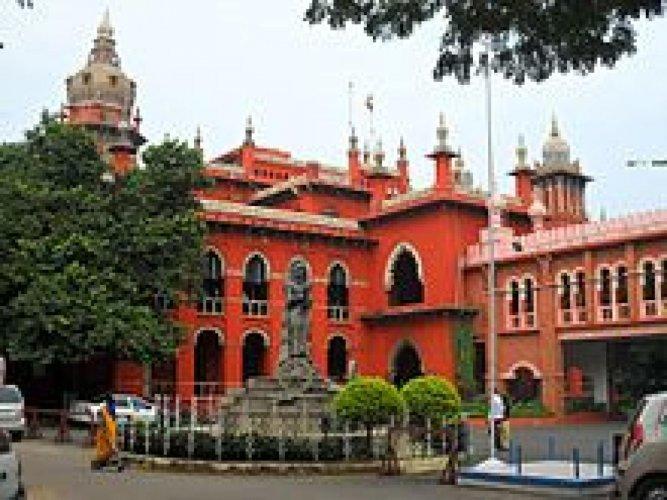 Madras High Court. (DH Photo)