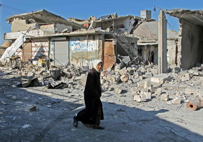 The bombardments hit three villages in Idlib province, Syria's last major rebel stronghold. Photo/AFP