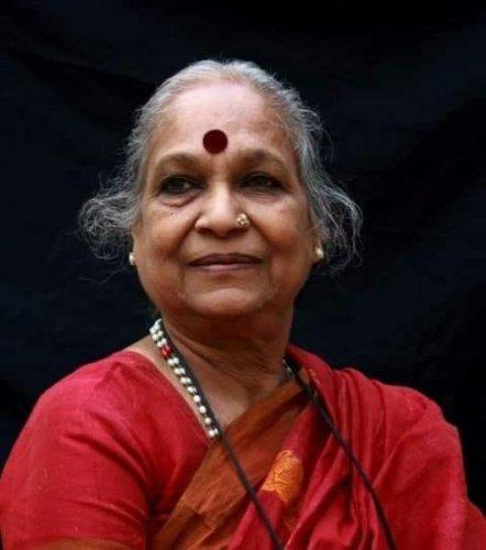 Eminent writer and journalist Vijaya. (DH file photo)