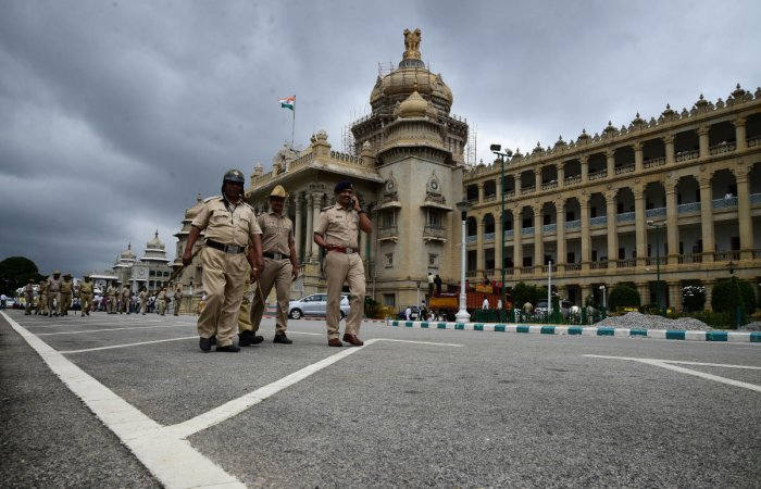 The police then conducted through check on Vidhana Soudha premises.