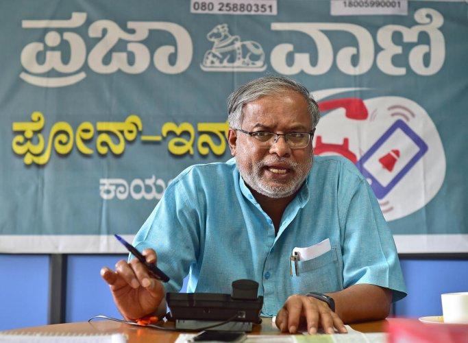 Education minister of Karnataka S Suresh Kumar