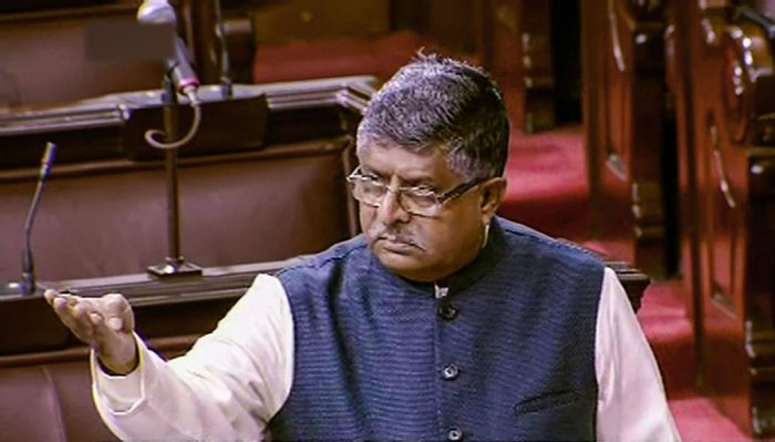 """Talking to a television channel, Law Minister Ravi Shankar Prasad said, """"We are ready to talk to the protestors and students. But we will not talk to tukde tukde gang and urban naxals, who pursue politics of violence."""" (PTI Photo)"""