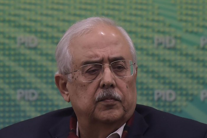 Pakistan's Attorney-General Anwar Mansoor Khan gives a press conference following a special court verdict against former military ruler Pervez Musharraf, in Islamabad on December 17, 2019. (Photo by AFP)